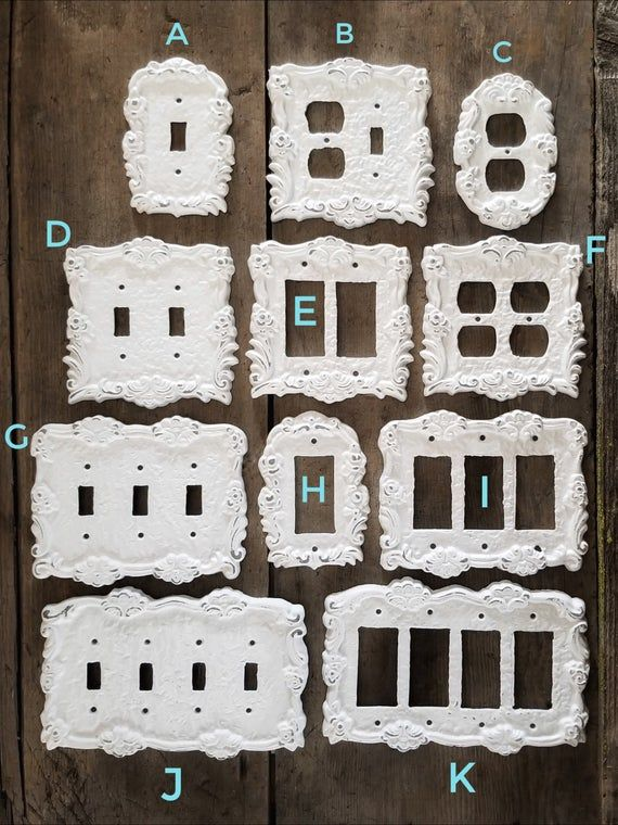 Farmhouse Style Handpainted Oil Rubbed Bronze or Pick from over 40 Colors Cast Iron Double Light Switchplate Toggle
