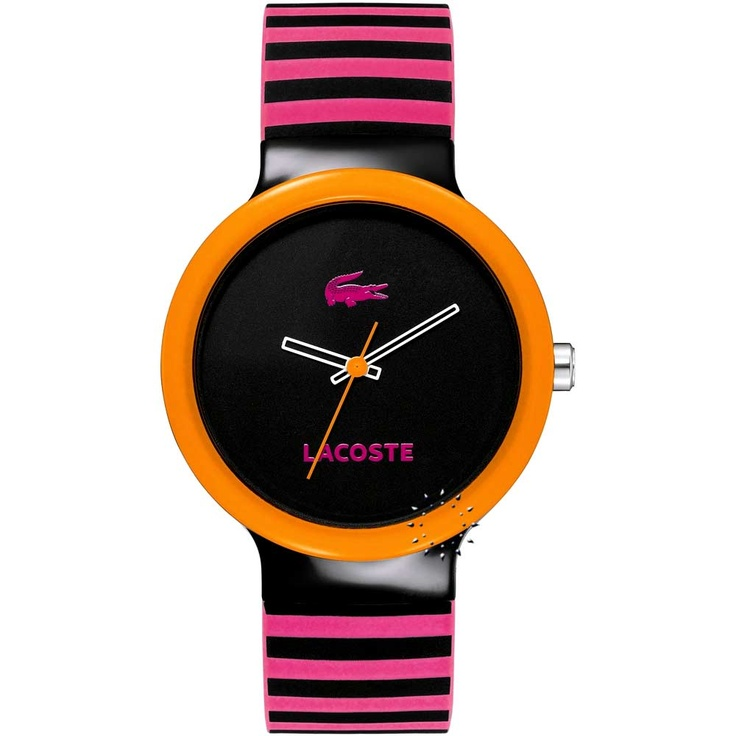 LACOSTE GOA Black and Pink Rubber Strap  61€