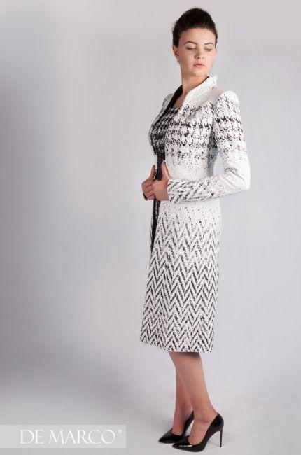 98298fb658 Nowa kolekcja 2019 De Marco szycie na miarę ekskluzywnej odzieży damskiej.  Elegancki ubrania  sukienka