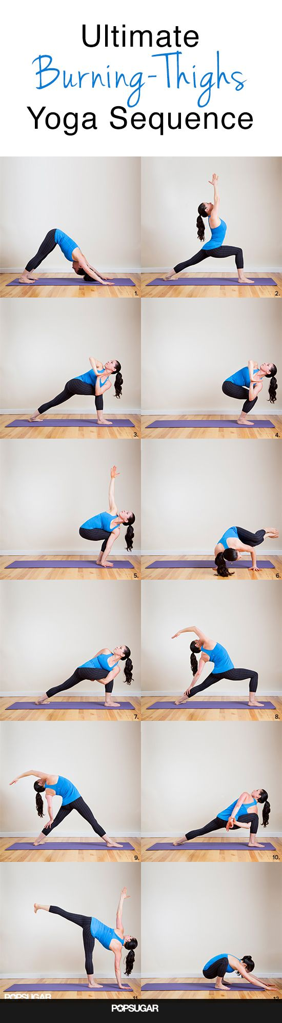 """Burning Thighs Yoga Sequence: Your Shorts Will Say, """"More Please!"""""""