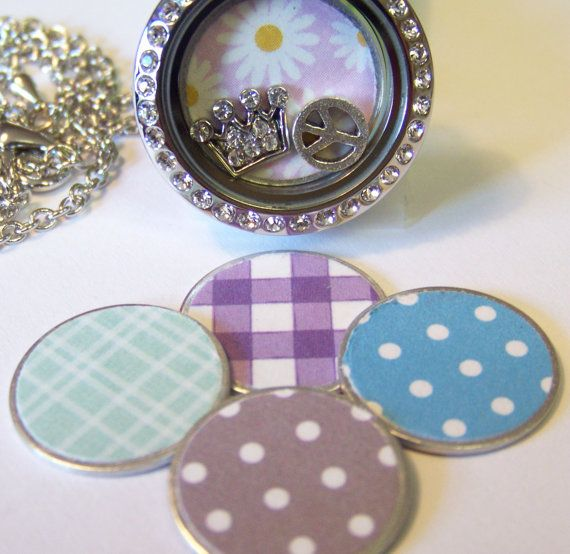 Pattern Plates to fit any Origami or similar style locket necklaces, choose size and pattern on Etsy, $7.00