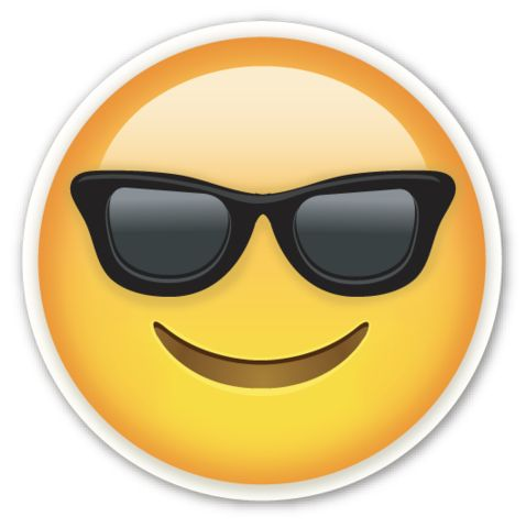 Smiling Face with Sunglasses | EmojiStickers.com