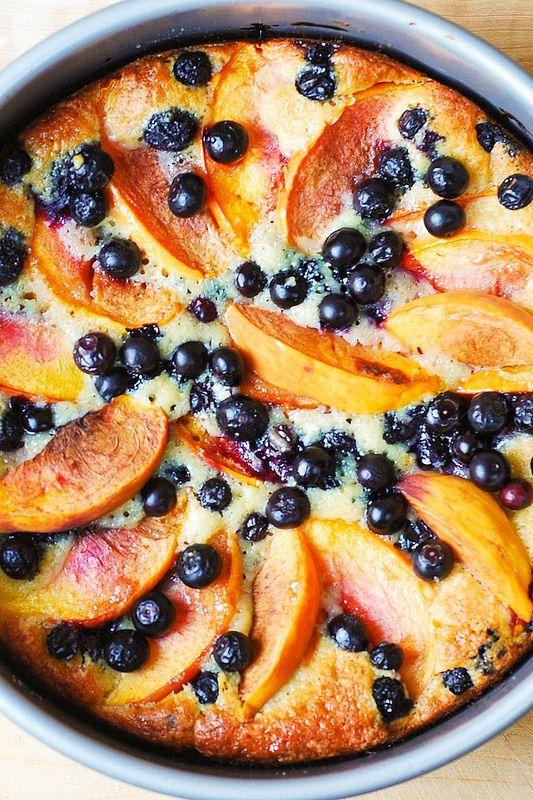 Blaubeer-Pfirsich-Kuchen