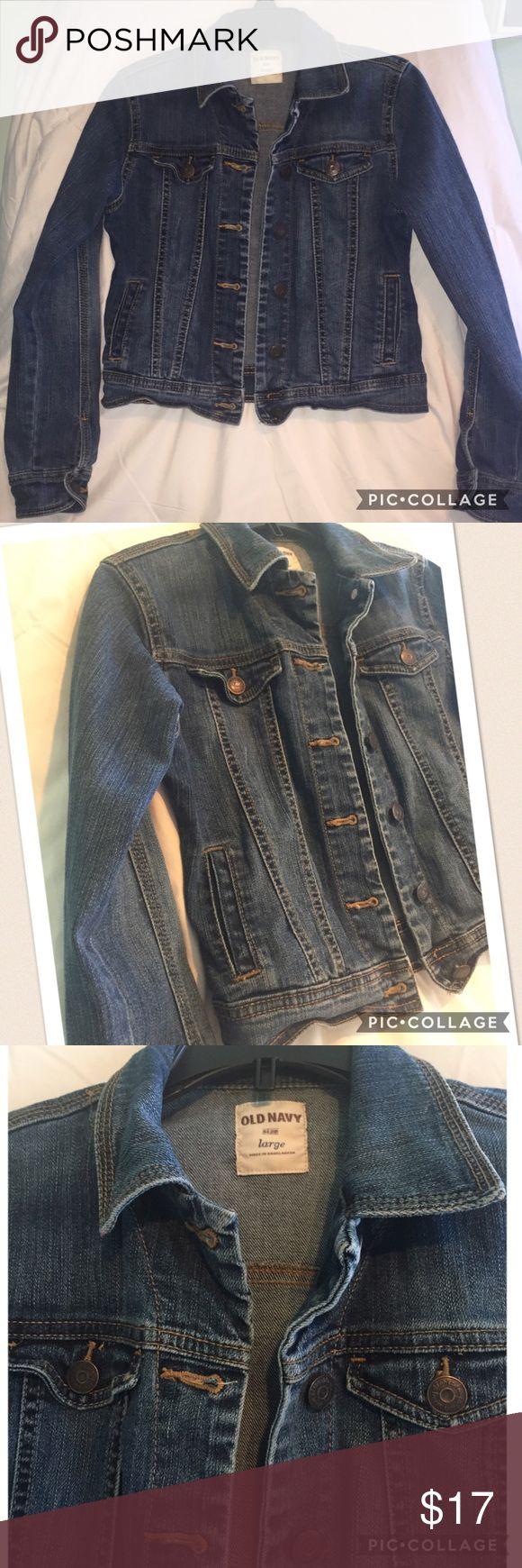 Old Navy jean jacket, size L 10/12 Old Navy classic jean jacket in great condition.  Only worn a couple times.  Size L 10/12. Old Navy Jackets & Coats Jean Jackets