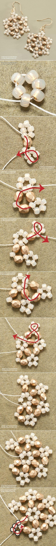 Måske ikke som øreringe, men de er fine, og det ser ikke så svært ud. Snowflake Earrings DIY Jewelry Earrings | #DIY