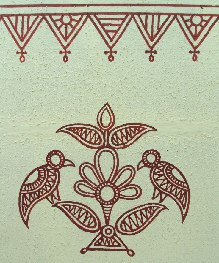 Bheenth Chitra - A unique Indian tribal wall art style