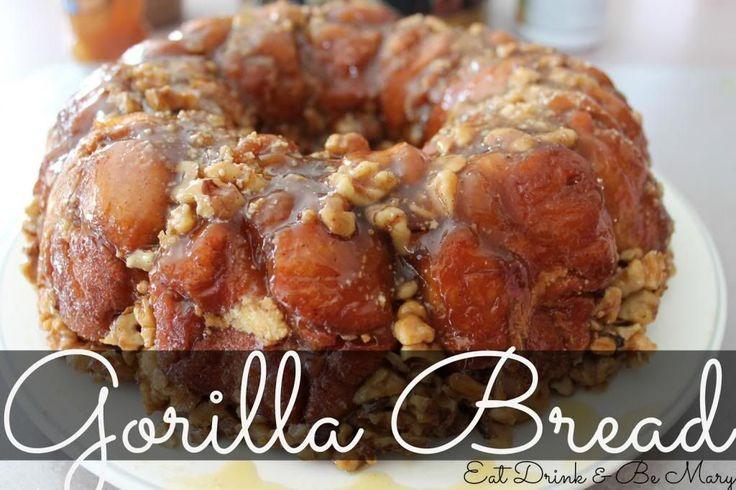 Gorilla Bread ~ a YUMMY, twist on the popular Monkey Bread.  The secret ingredient?  Gorilla Bread has cream cheese inside the biscuits--ummm yum!