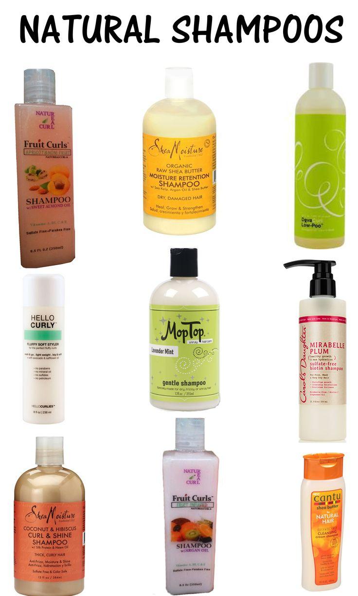 Natural Shampoos  Shea Moisture , NATUREALCURL®, Deva Curl , Mop Top ,Carols Daughter ,Hello Curlies, Cantu Shea Butter