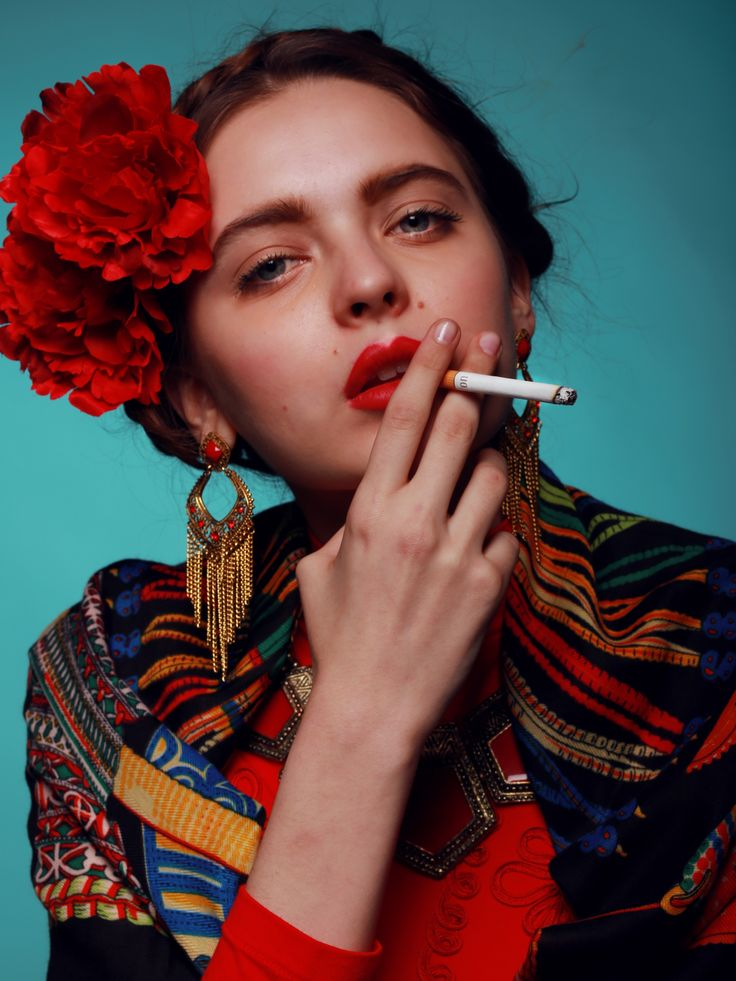 Frida Kahlo inspired --- Anna from Beyond Agency (Milan). Photo by Edith De Michele.