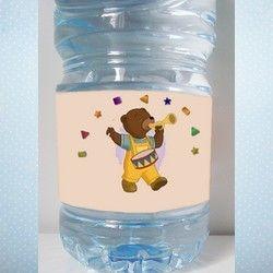 Etiquettes bouteilles petit ours brun