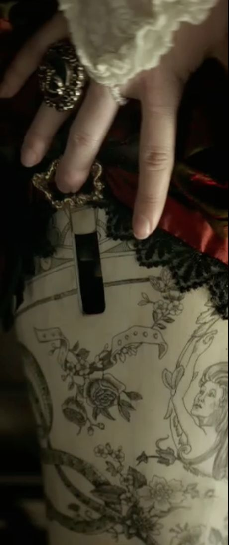 "Red Harrington's gun leg tattoo detail.Helena Bonham Carter - ""The Lone Ranger"" (2013) -  Costume designer : Penny Rose"