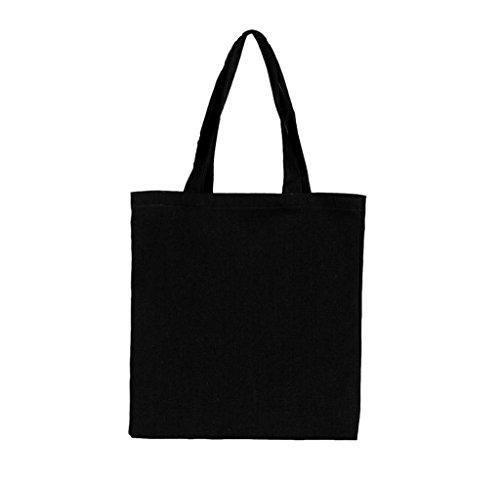 Oferta: 2.99€. Comprar Ofertas de Tongshi Moda mujer niñas lona bolsa bolso hombro bolso Shopper playa compras (Negro) barato. ¡Mira las ofertas!