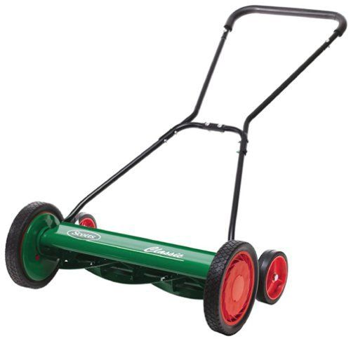For the 200 square feet of grass. Scotts 2000-20 20-Inch Classic Push Reel Lawn Mower