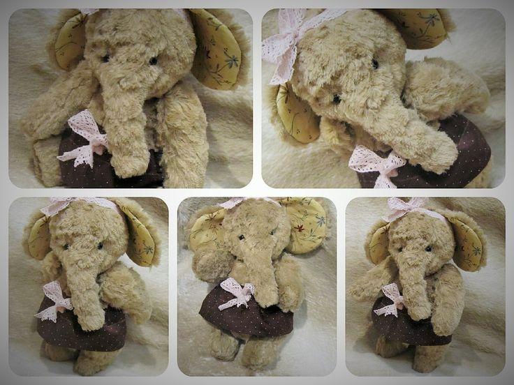 Слоненка Тасечка из нежнейшей вискозы. Очень тискательная детка, 17 см нежности и милоты.