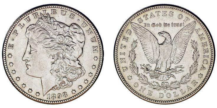 1 SILVER US DOLLAR NEW ORLEANS /1 DÓLAR MORGAN NUEVA ORLEANS. 1898 O. XF/EBC.