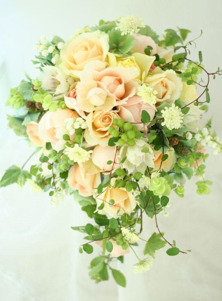 ブーケ ティアドロップ 6月の花嫁 : 一会 ウエディングの花