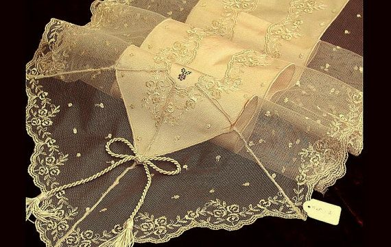 Silk table Runner luxury shabby chic with by ClassyInteriorsDeco