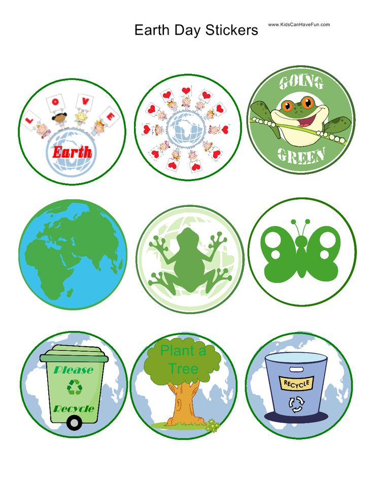 Earth Day Stickers