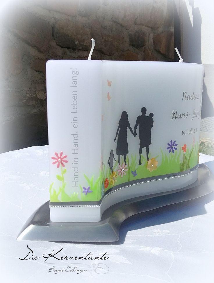 Hochzeitskerze Hand in Hand #handinhandeinlebenlang #hochzeitskerze #familie #heiraten #hochzeit #wedding