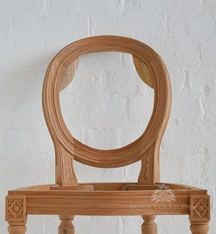 French Style Bar Stool, Unfinished Mahogany / French Oval Bar Stool / Dutch  Connection