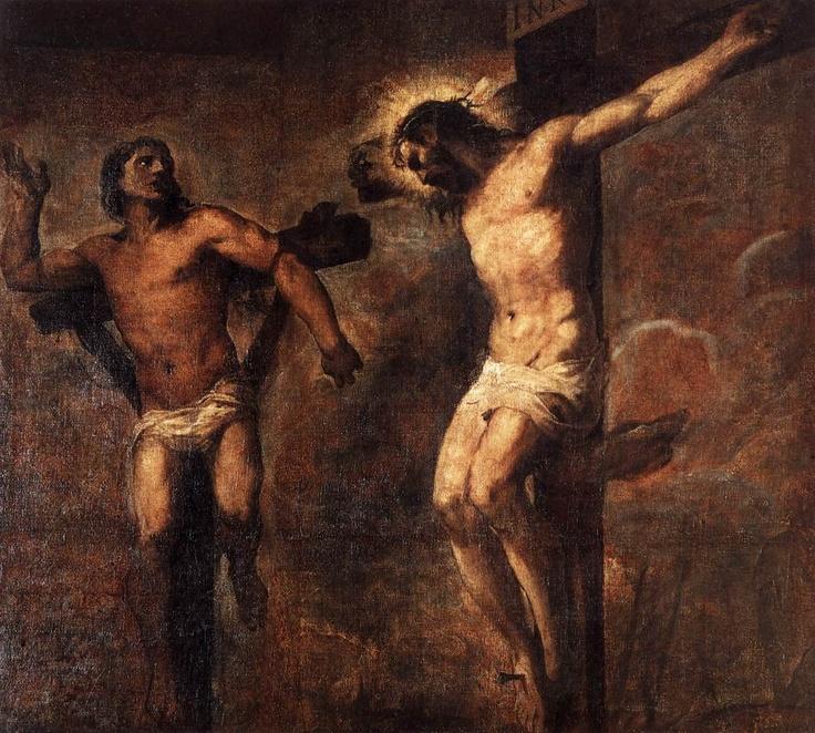 Tiziano - Cristo e il buon ladrone. 1566 circa.