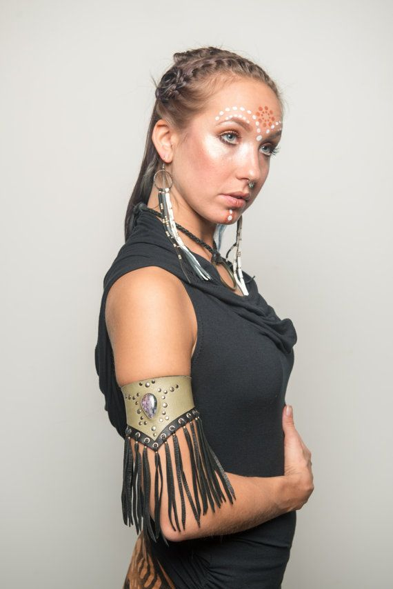 The Charmer Arm Band // charoite leather by TheBohemianFoxShop