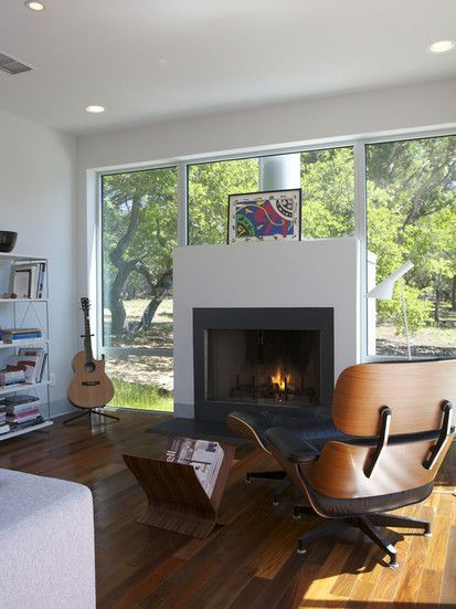 Caudill Lane, Modern Family Room, Austin