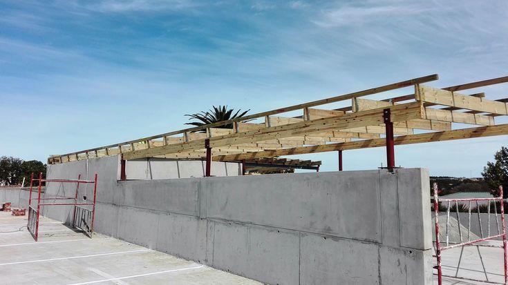 Car Wash Bay - De Bron Shopping Centre , Malmesbury #timber #structure #construction
