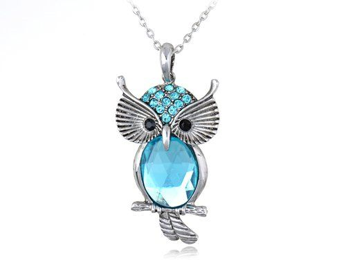 Aqua Blue Crystal Rhinestone Perched Owl Bird Chain Costume Pendant Necklace Alilang,http://www.amazon.com/dp/B005DA18TY/ref=cm_sw_r_pi_dp_6FUDsb09BX6Y2Q1S