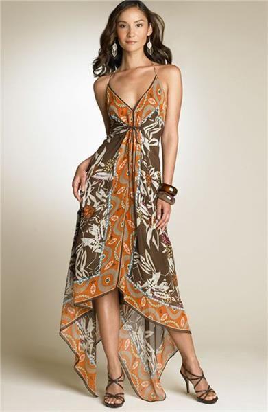 Пошить платье из платков