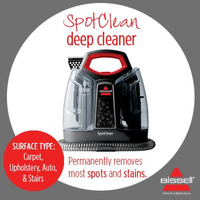 BISSELL AUSTRALIA - This little dynamo does so much with so little effort involved! Remove unexpected messes and stains with this portable deep cleaner. http://www.bisselloutletstore.com.au/spotclean.html #stainremover #spotclean #carpetcleaner #upholstery #carcleaner
