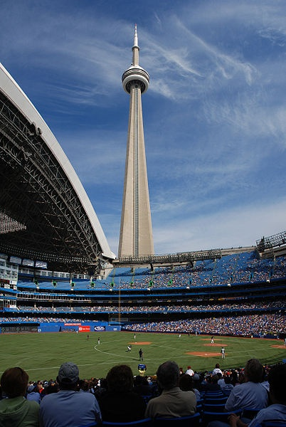 Anthony won't leave without seeing a game. Rogers Center: Home of the Toronto Blue Jays - Tower view