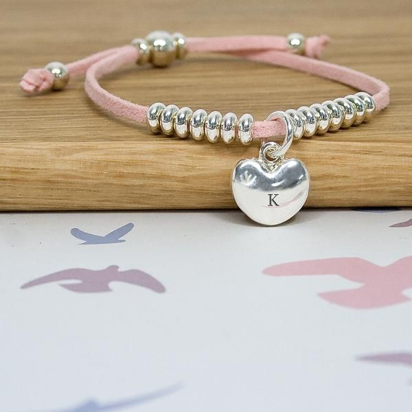 Heart Friendship Personalised Bracelet - Pink – Luxe Gift Store