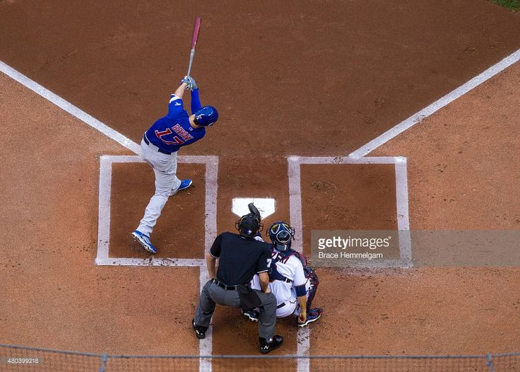 Kris Bryant #17 of the Chicago Cubs bats against the Minnesota Twins on June 19, 2015 at Target Field in Minneapolis, Minnesota. The Twins defeated the Cubs 7-2.