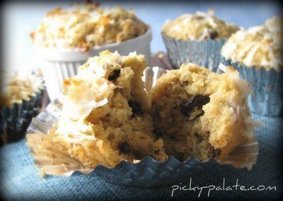 "Healthier"" Banana Peanut Butter Chocolate Chip Muffins"