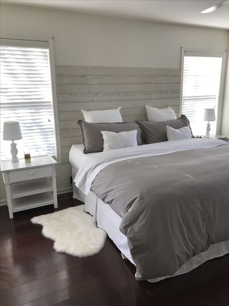 Plain White Headboard
