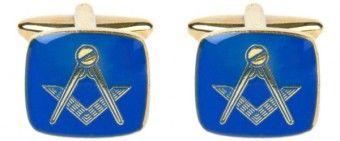 Masonic Cushion Blue Enamel Cufflinks - £25.99