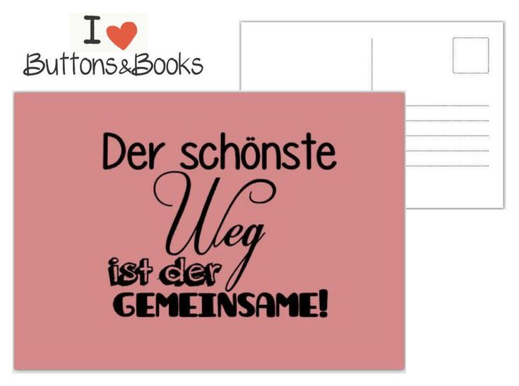 Postkarte+Spruch+Zitat+-Grußkarte+Liebe+Hochzeit+von+Buttons&Books+auf+DaWanda.com