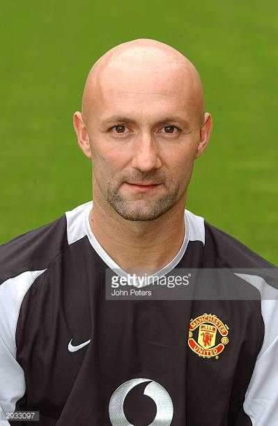 A pre season portrait of Fabien Barthez of Manchester United