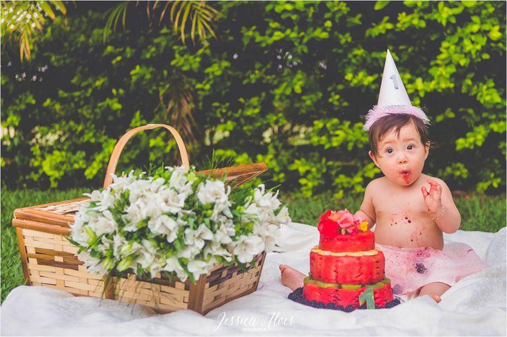 {Lara} Quase 1 Aninho | Smash The Fruit « [Ô] Jessica Alves | Fotógrafa Especializada em Recém-Nascidos