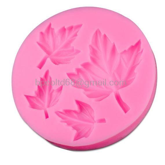 Pabrik langsung 3d silicone mold chocolate fondant daun jenis art alat diy cake decorating alat cd-f180