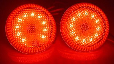 For Toyota Corolla 2009-10 Red Lens LED Rear Bumper Fog Light Lamps Set Retrofit
