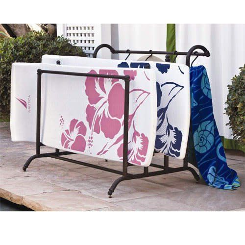 Large Elegant Cast Aluminum Pool Float Storage Holder By SWC, Http://www