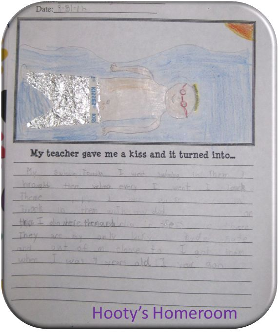 """Free download! """"My teacher gave me a kiss and it turned into this..."""" Super cute!"""