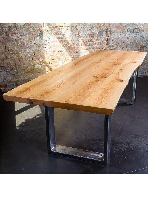 Nuovo tavolo da pranzo taglio tronco naturale, un tavolo in legno ...