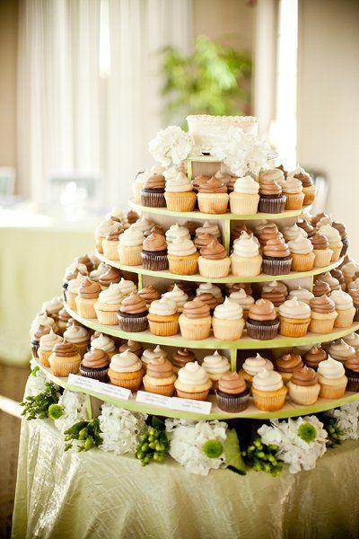 Una idea para servir los cupcakes en una boda / An idea for serving the cupcakes at a wedding