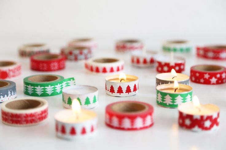 washi tealight / washi candels