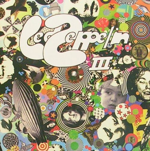 I've never seen this cover version of Led Zeppelin III but wonder if it is inside the original album, ..or possibly part of the collage used on the turning wheel in same album.