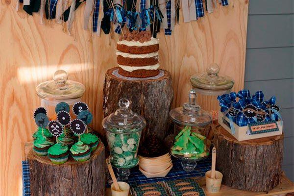 Cumpleaños de niño inspirado en leñadores - Fiesta de cumpleaños para el pequeño leñador