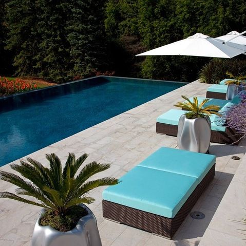 Dark brown teal -Outdoor Furniture Design Ideas, Pictures, Remodel and Decor